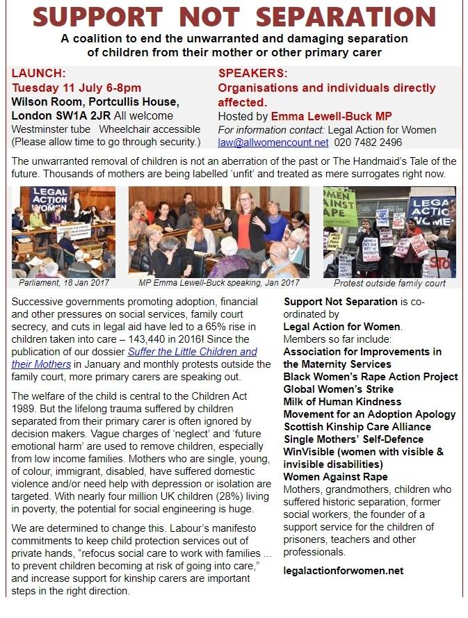 Support Not Separation leaflet
