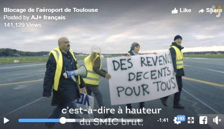 GJ Toulouse airport revenu decent