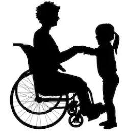 Disabled mum pictogram