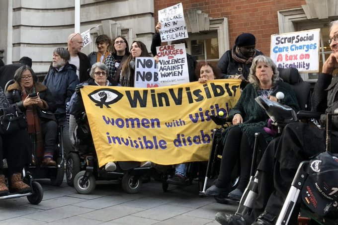 Greenwich care charges protest 2019
