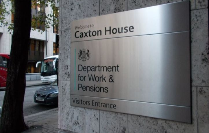 Photo of plaque Caxton House, DWP HQ