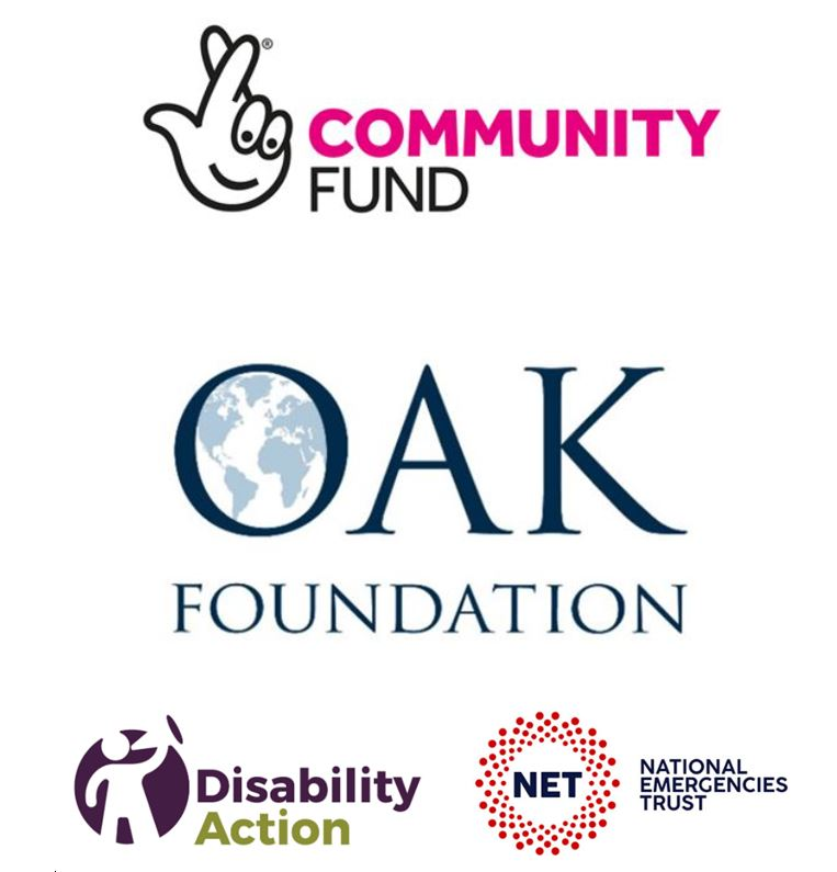 Lottery, Oak Foundation, National Emergencies Trust (Disability Action)